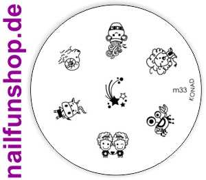 KONAD Stamping Schablone M33