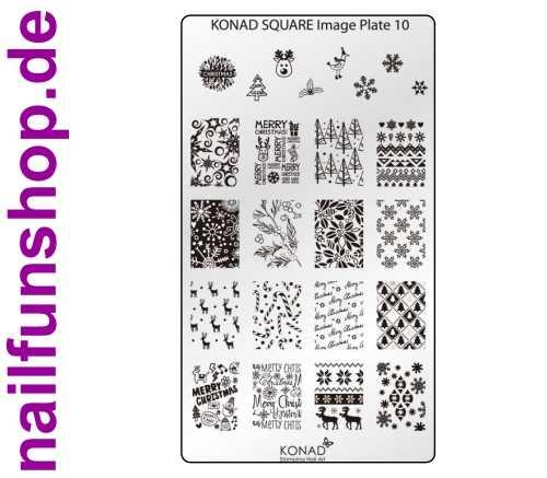 KONAD Square 10 Stamping Schablone - SQUARE No. 10