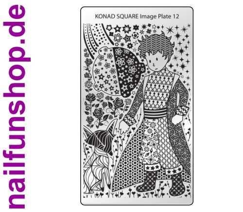 KONAD Square 12 Stamping Schablone - SQUARE No. 12