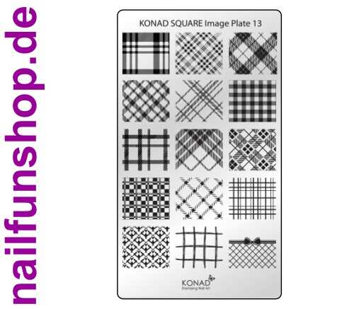 KONAD Square 13 Stamping Schablone - SQUARE No. 13
