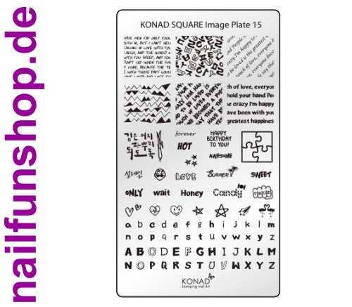 KONAD Square 15 Stamping Schablone - SQUARE No. 15