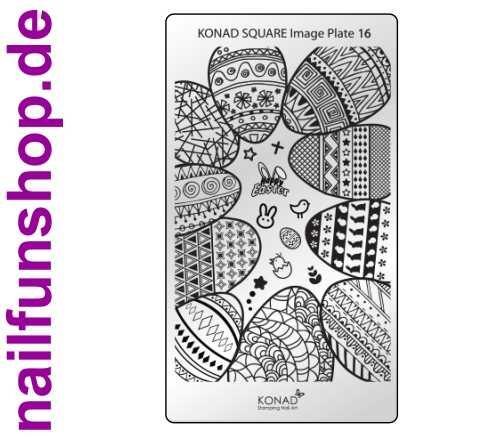 KONAD Square 16 Stamping Schablone - SQUARE No. 16