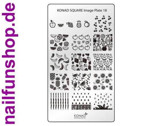 KONAD Square 18 Stamping Schablone - SQUARE No. 18