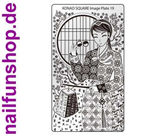 KONAD Square 19 Stamping Schablone - SQUARE No. 19