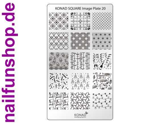 KONAD Square 20 Stamping Schablone - SQUARE No. 20 Weihnachten Christmas