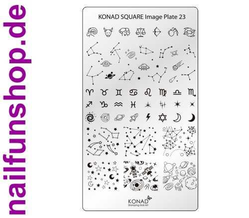 KONAD Square 23 Stamping Schablone - SQUARE No. 23
