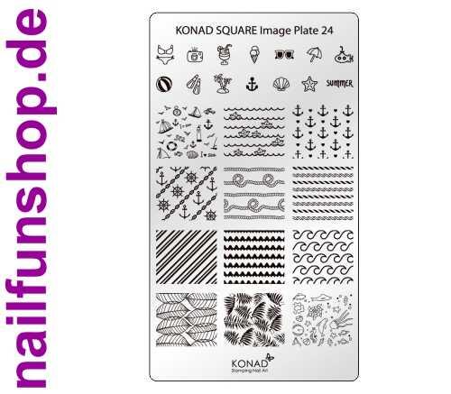 KONAD Square 24 Stamping Schablone - SQUARE No. 24