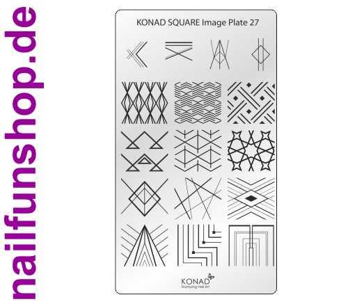 KONAD Square 27 Stamping Schablone - SQUARE No. 27