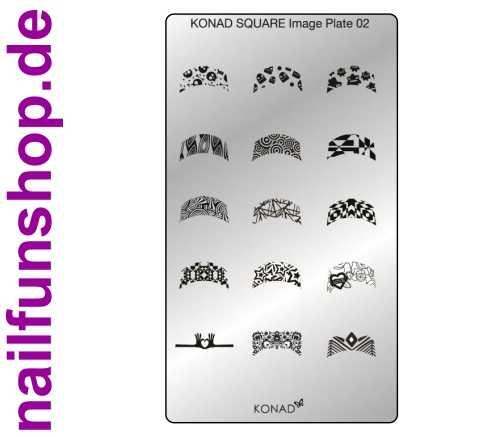KONAD Square 2 Stamping Schablone - SQUARE No. 2