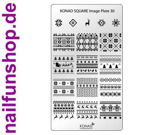 KONAD Square 30 Stamping Schablone - SQUARE No. 30