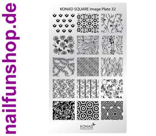 KONAD Square 32 Stamping Schablone - SQUARE No. 32