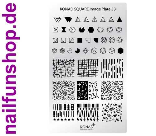 KONAD Square 33 Stamping Schablone - SQUARE No. 33