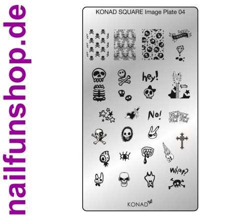 KONAD Square 4 Stamping Schablone - SQUARE No. 4