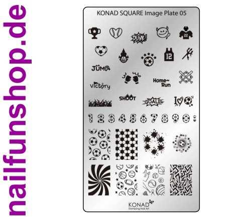 KONAD Square 5 Stamping Schablone - SQUARE No. 5