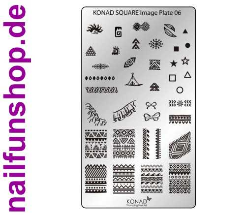 KONAD Square 6 Stamping Schablone - SQUARE No. 6
