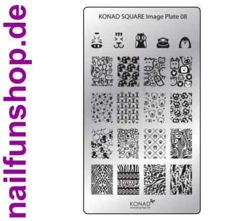KONAD Square 8 Stamping Schablone - SQUARE No. 8