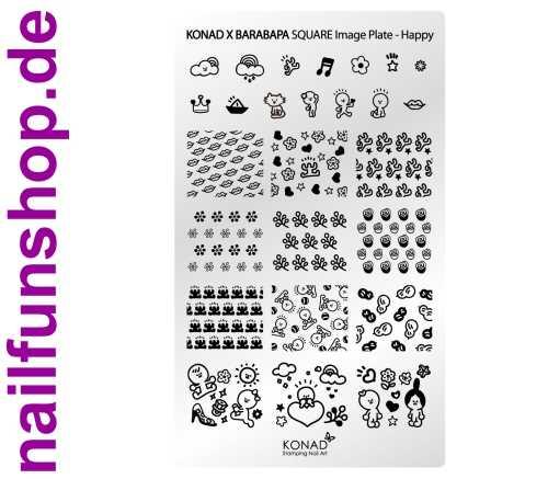 KONAD Square HAPPY Stamping Schablone
