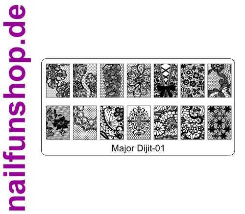 Stamping Schablone Major Dijit 01 - Fullcover Motive
