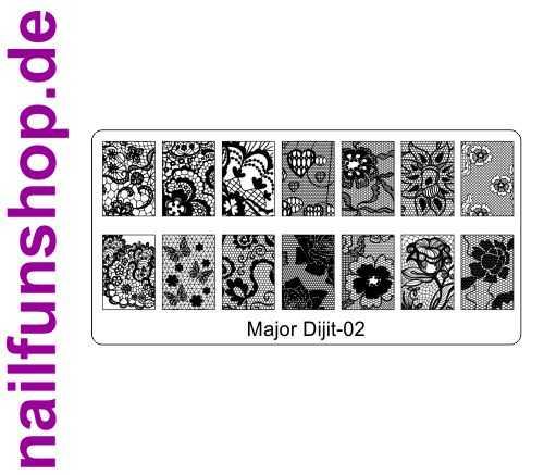 Stamping Schablone Major Dijit 02 - Fullcover Motive
