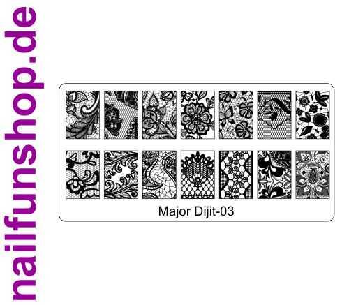Stamping Schablone Major Dijit 03 - Fullcover Motive