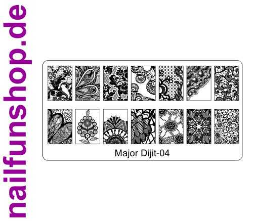 Stamping Schablone Major Dijit 04 - Fullcover Motive