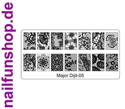 Stamping Schablone Major Dijit 05 - Fullcover Motive