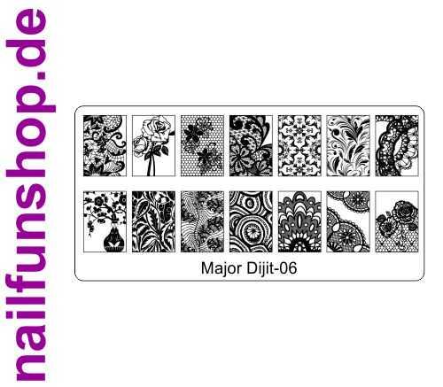 Stamping Schablone Major Dijit 06 - Fullcover Motive