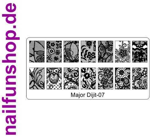 Stamping Schablone Major Dijit 07 - Fullcover Motive
