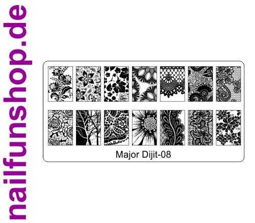 Stamping Schablone Major Dijit 08 - Fullcover Motive