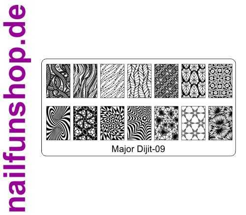 Stamping Schablone Major Dijit 09 - Fullcover Motive