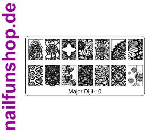 Stamping Schablone Major Dijit 10 - Fullcover Motive