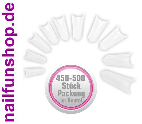 450-500 Kunstnagel Tips EDGE klar [ohne Anklebefläche] im Nachfüllbeutel