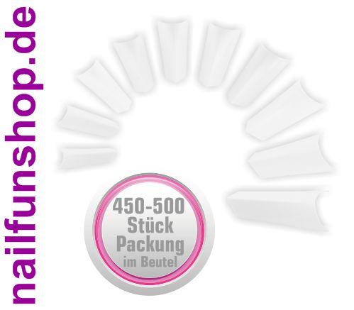 450-500 Kunstnagel Tips EDGE weiss [ohne Anklebefläche] im Nachfüllbeutel