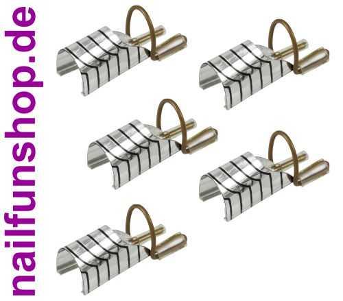 5 Stück Teflon Modellier Schablonen in Aufbewahrungsbox wiederverwendbar mit Metallbügel in silber